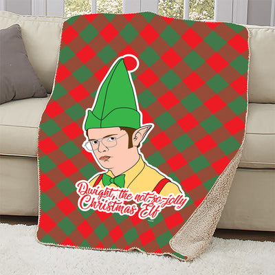 The Office Dwight Elf Sherpa Blanket