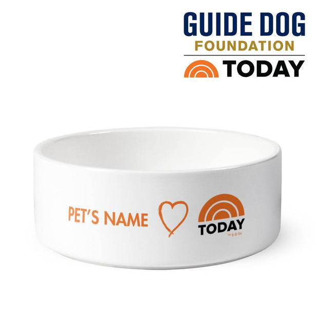 Personalized TODAY Small Pet Bowl