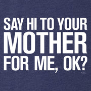 Saturday Night Live Hi Mother Men's Tri-Blend Short Sleeve T-Shirt