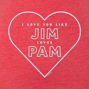 The Office Jim Loves Pam Women's Tri-Blend Short Sleeve T-Shirt