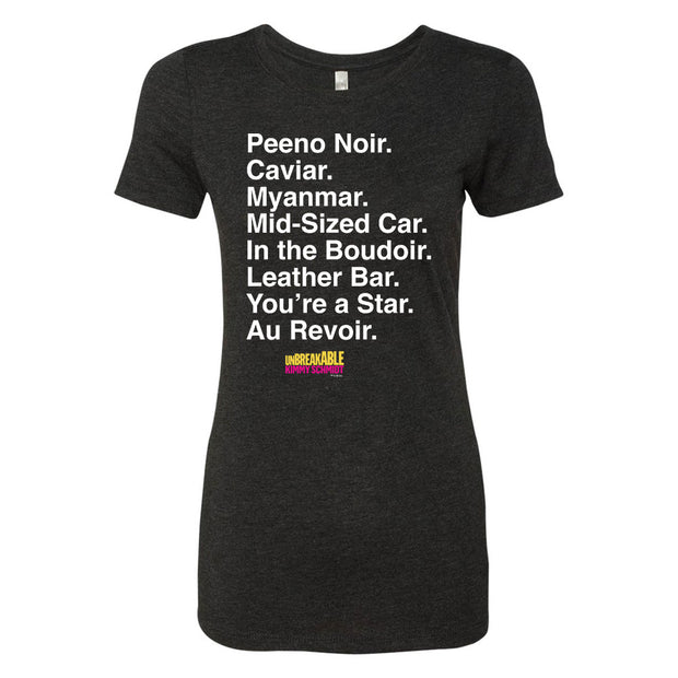 Unbreakable Kimmy Schmidt Titus Peeno Noir Women's Tri-Blend Short Sleeve T-Shirt