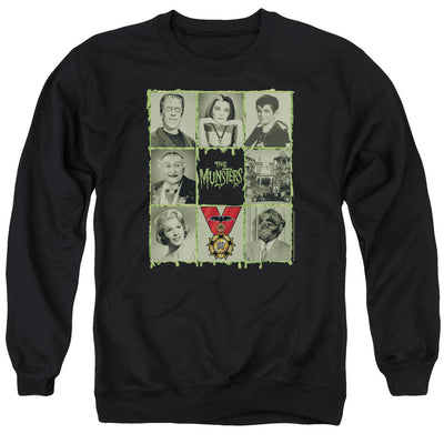 The Munsters Blocks Crew Neck Sweatshirt