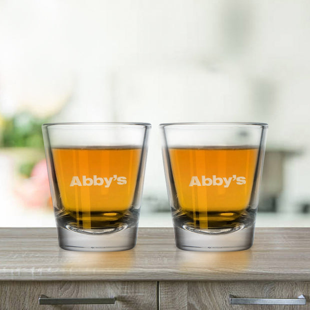 Abby's Logo Shot Glasses - Set of 2