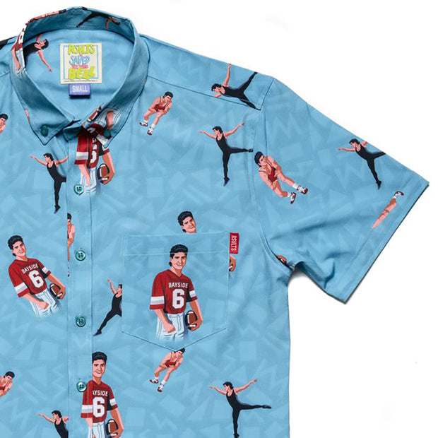 Saved By The Bell AC Slater Triple Threat Button Down Shirt