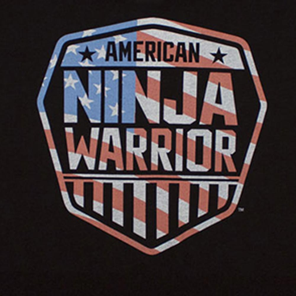 American Ninja Warrior Americana Women's V-neck T-shirt-secondary-image