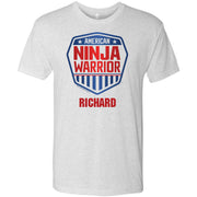 Personalized American Ninja Warrior Men's Tri-Blend T-Shirt