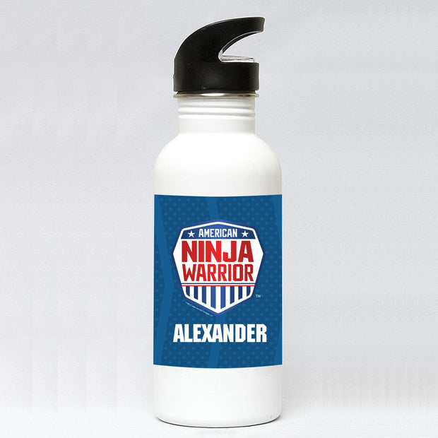 Personalized American Ninja Warrior Water Bottle