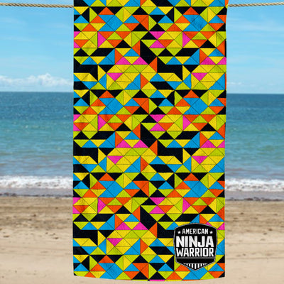 American Ninja Warrior Beach Towel