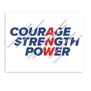 American Ninja Warrior Courage  Strength  Power Wall Art