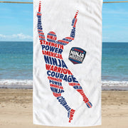 American Ninja Warrior Hang Tough Beach Towel