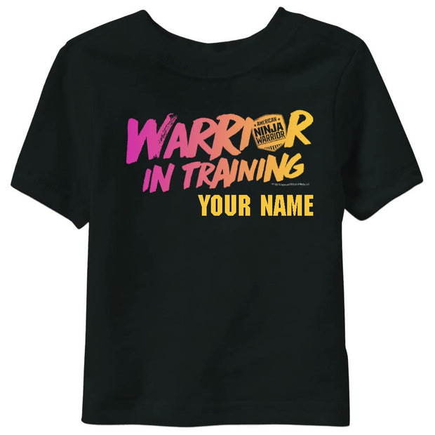 Personalized Warrior In Training Girls Short Sleeve T-Shirt