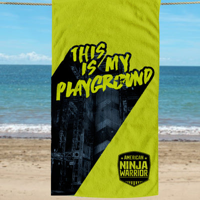 American Ninja Warrior This is My Playground Beach Towel