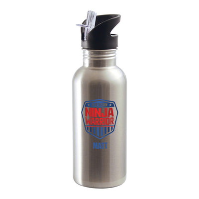 Personalized American Ninja Warrior Stainless Steel Water Bottle