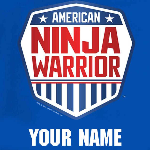 Personalized American Ninja Warrior Toddler Royal Blue T-Shirt