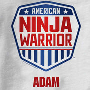 Personalized American Ninja Warrior Toddler White T-Shirt