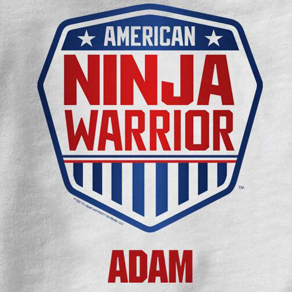 Personalized American Ninja Warrior Kids T-Shirt-secondary-image