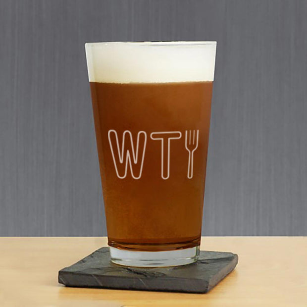 The Good Place WTFork Pint Glass