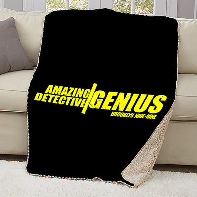 Brooklyn Nine-Nine Amazing Detective Genius Sherpa Blanket