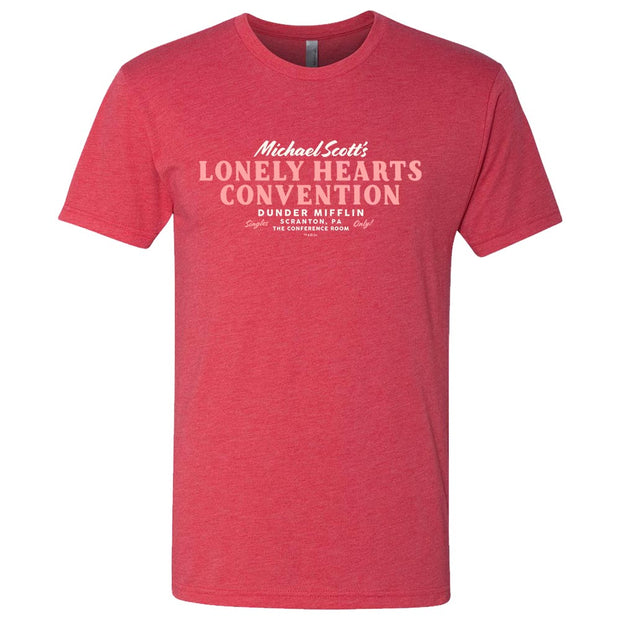 The Office Michael Scott Lonely Hearts Convention Men's Tri-Blend Short Sleeve T-Shirt