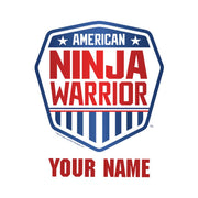 Personalized American Ninja Warrior Cotton Drawstring Backpack