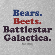 The Office Bears. Beets. Battlestar Galactica Women's Relaxed Scoop Neck T-Shirt
