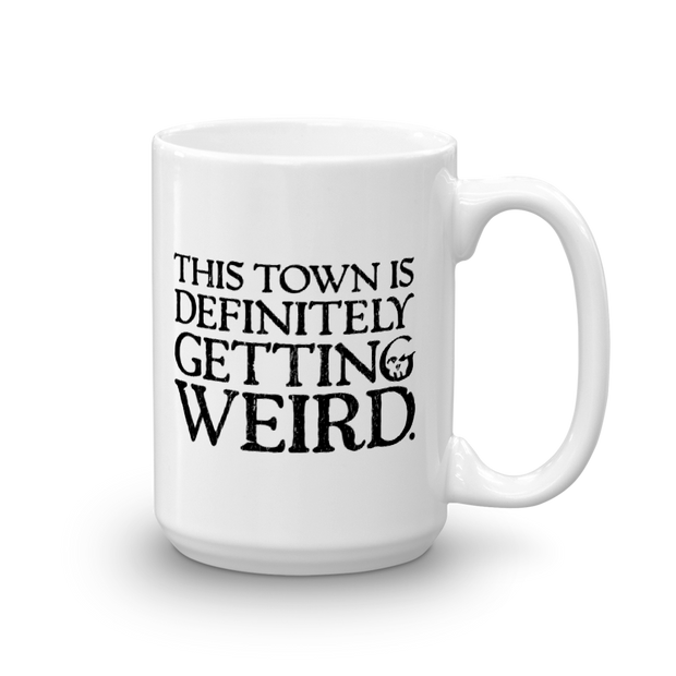 Grimm This Town is Definitely Getting Weird White Mug