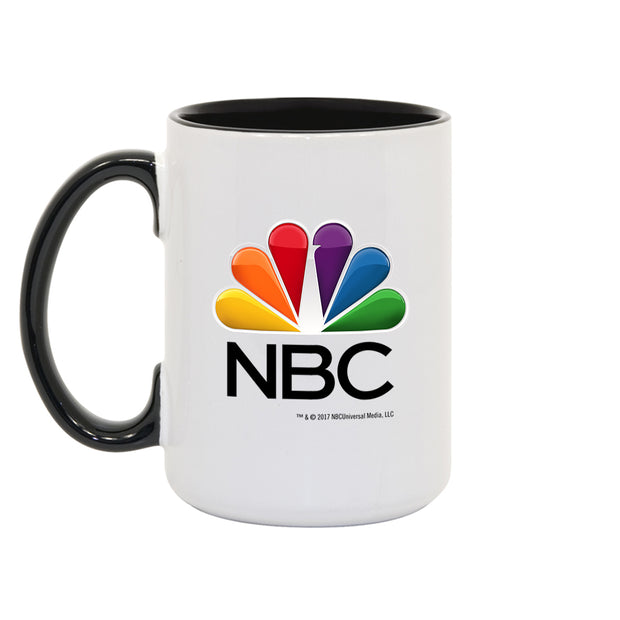 NBC White and Black Mug