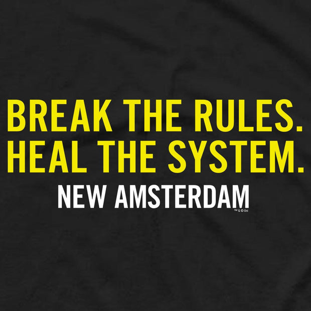 New Amsterdam Break the Rules Men's Short Sleeve T-Shirt