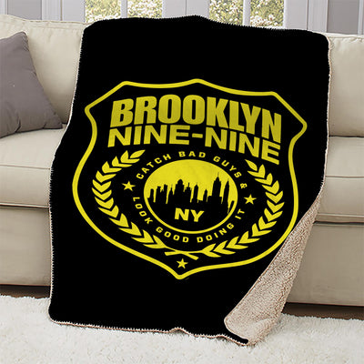 Brooklyn Nine-Nine Badge Sherpa Blanket