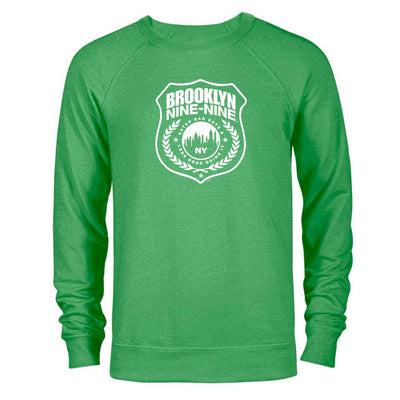 Brooklyn Nine-Nine Badge St. Patrick's Day Lightweight Crew Neck Sweatshirt