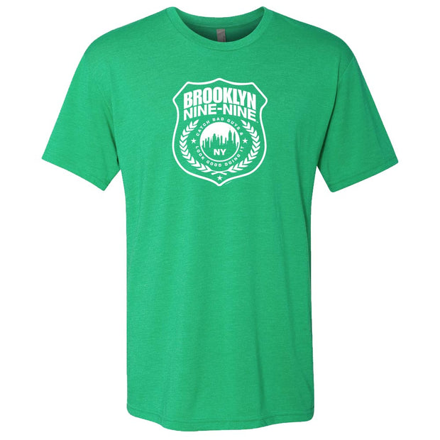 Brooklyn Nine-Nine Badge St. Patrick's Day Men's Tri-Blend Short Sleeve T-Shirt