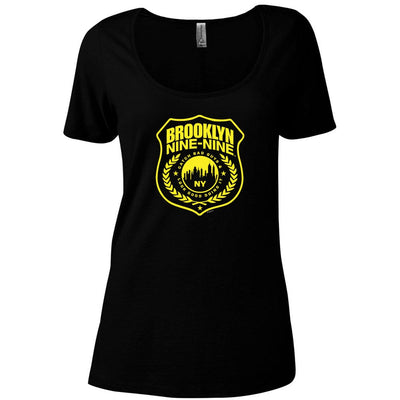 Brooklyn Nine-Nine Badge Women's Relaxed Scoop Neck T-Shirt