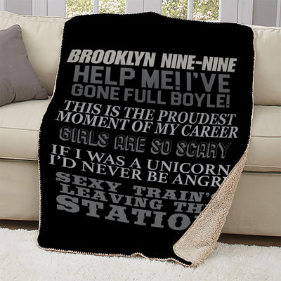 Brooklyn Nine-Nine Charles Boyle Quote Mash-up Sherpa Blanket