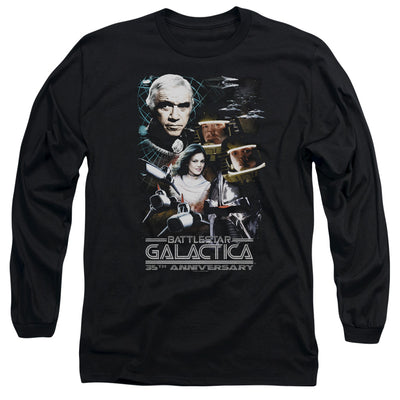 Battlestar Galactica 35th Anniversary Collage Long Sleeve T-Shirt