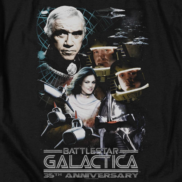 Battlestar Galactica 35th Anniversary Collage Hooded Sweatshirt