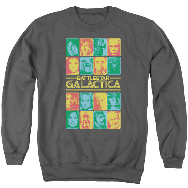 Battlestar Galactica 35th Anniversary Cast Crew Neck Sweatshirt