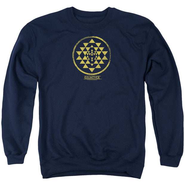 Battlestar Galactica Gold Squadron Patch Crew Neck Sweatshirt
