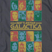 Battlestar Galactica 35th Anniversary Cast Heather Grey Short Sleeve T-Shirt