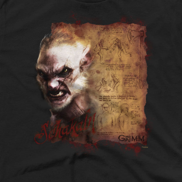 Grimm Schakal Wesen Men's Short Sleeve T-Shirt