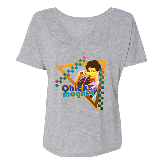 Saved By The Bell Chick Magnet Women's Relaxed V-Neck T-Shirt