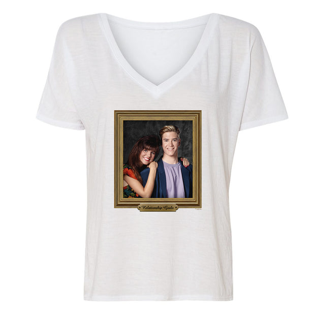 Saved By The Bell Relationship Goal Women's Relaxed V-Neck T-Shirt