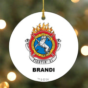 Personalized Chicago Fire Fightin' 81 Double-Sided Ornament