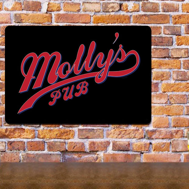 Chicago Fire Molly's Pub Metal Sign - 18 x 12
