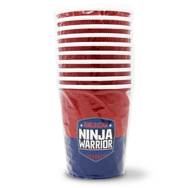 American Ninja Warrior Party Supplies - Paper Cups - Pack of 10