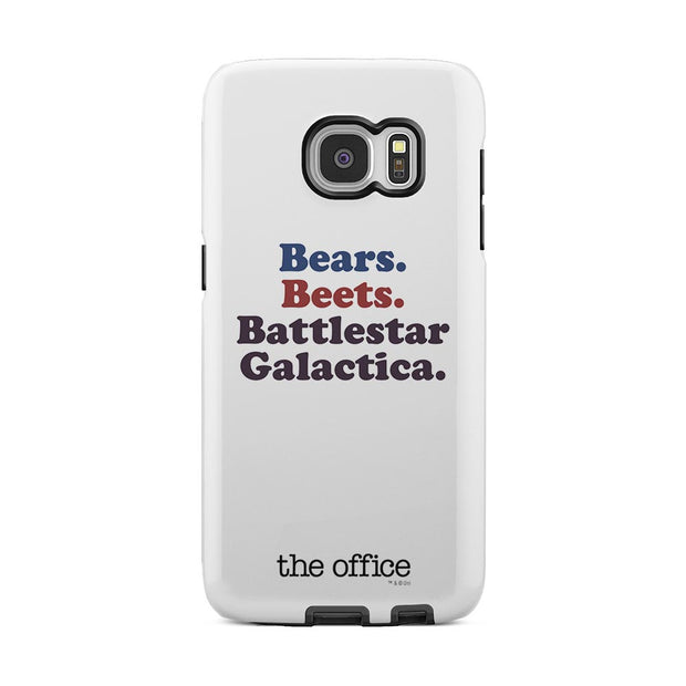 The Office Bears. Beets. Battlestar Galactica Samsung Galaxy Tough Phone Case
