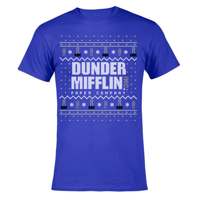 The Office Dunder Mifflin Holiday Men's Short Sleeve T-Shirt