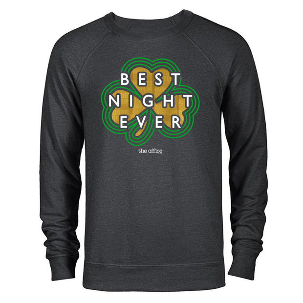 The Office Dunder MIfflin Best Night Ever St. Patrick's Day Lightweight Crew Neck Sweatshirt