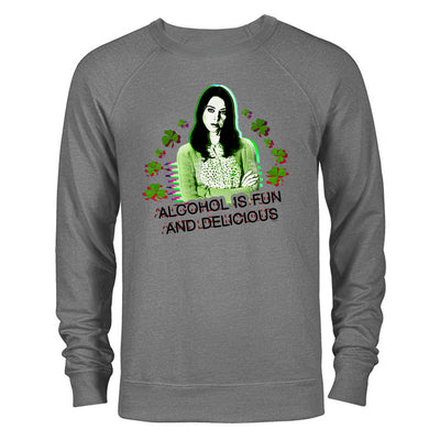 Parks and Recreation Alcohol is Fun and Delicious St. Patrick's Day Lightweight Crew Neck Sweatshirt