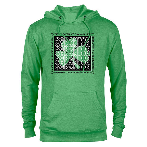 The Office Scranton St. Patrick's Day Lightweight Hooded Sweatshirt
