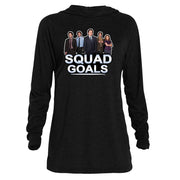 The Office Squad Goals Tri-blend Raglan Hoodie